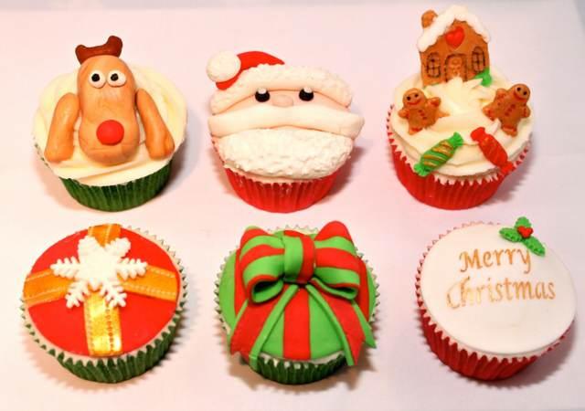 Navidad cupcakes decoración temática original