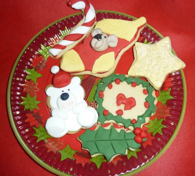 Navidad galletas los colores y formas temáticos