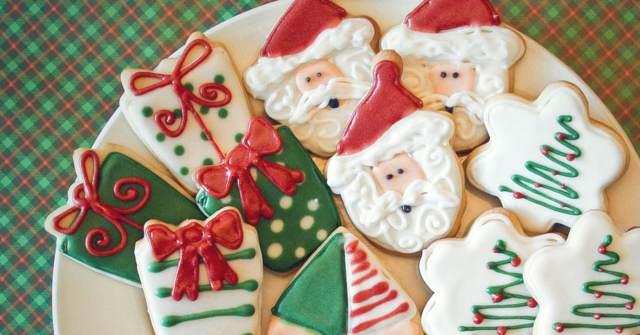 Navidad unas galletas decoradas formas navideñas