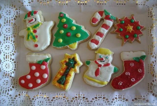 Navidad unas galletas formas variadas