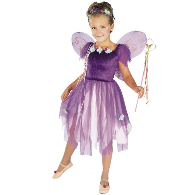 niñas disfraz original color lila