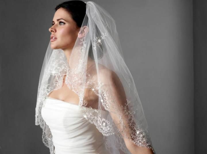 novia linda boda velos magníficos