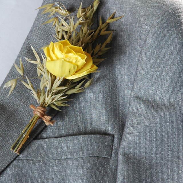 ojal de boda tierno rosa amarilla