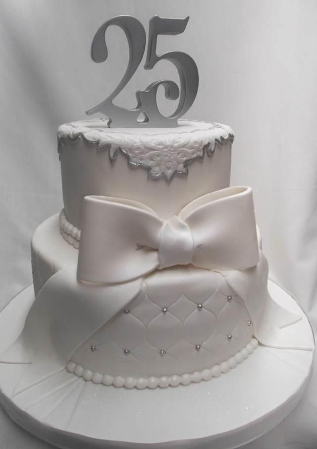 pastel precioso aniversario bodas 25 años