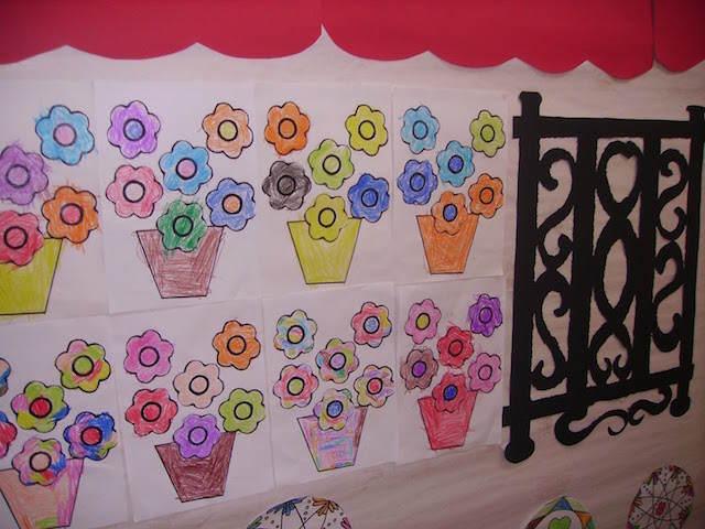 patio andaluz decoración pintada 28 de febrero