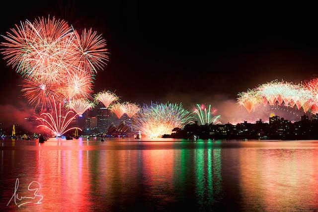pirotecnia preciosa Sidney celebrar nuevo año