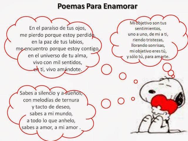 poemas para enamorar preciosas Snoopy
