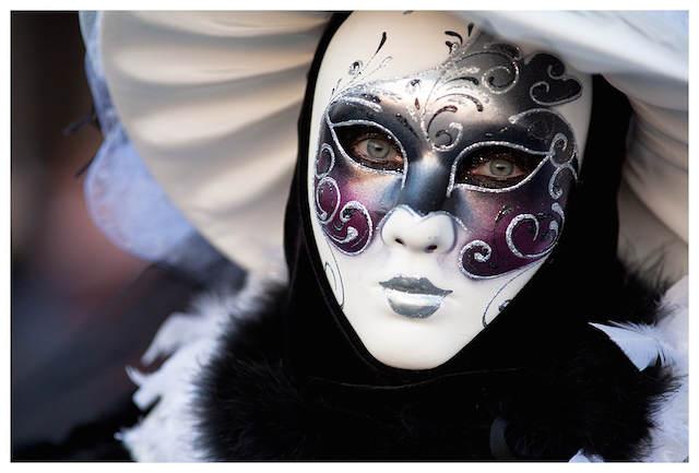preciosa máscara de carnaval Venecia