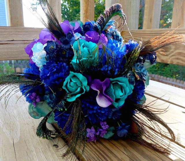 precioso ramo combinación lila matices azul
