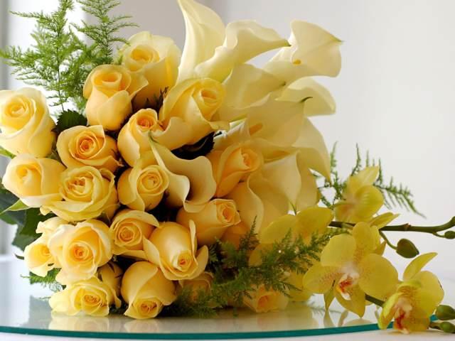 ramos de rosas color amarillo idea linda