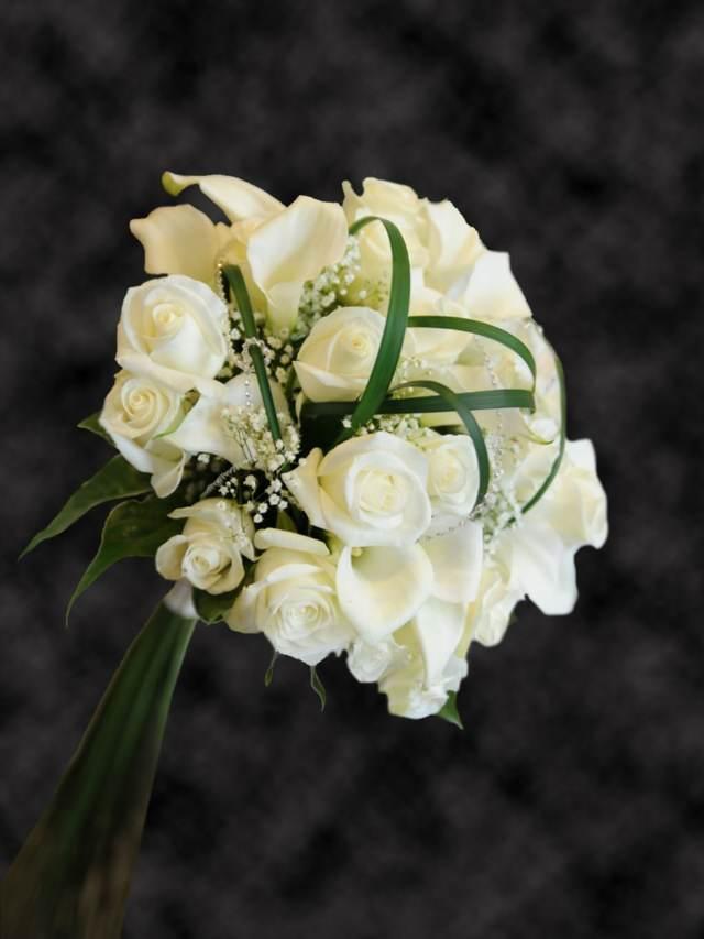 ramos rosas boda novia tendencias nuevas color blanco