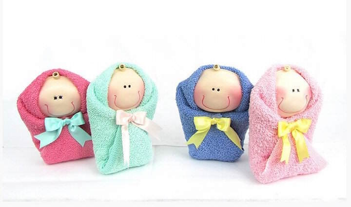 recuerdos bautizo bebes toallas pintadas preciosos
