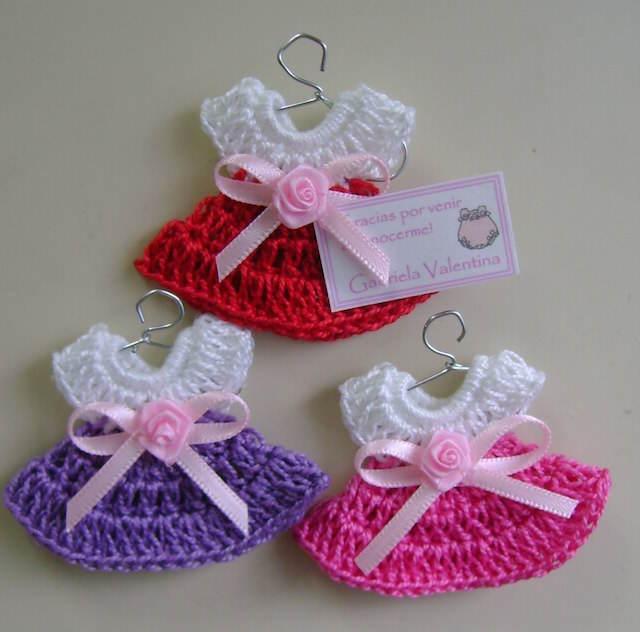 recuerdos para baby shower vestido hecho a mano