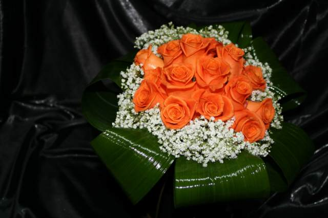 rosas naranja ramos de flores maravillosos boda