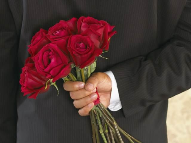 felicidades San Valentín flores rosas rojas