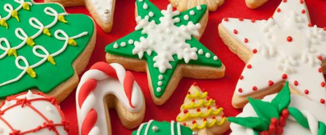 decoración unas galletas Navidad