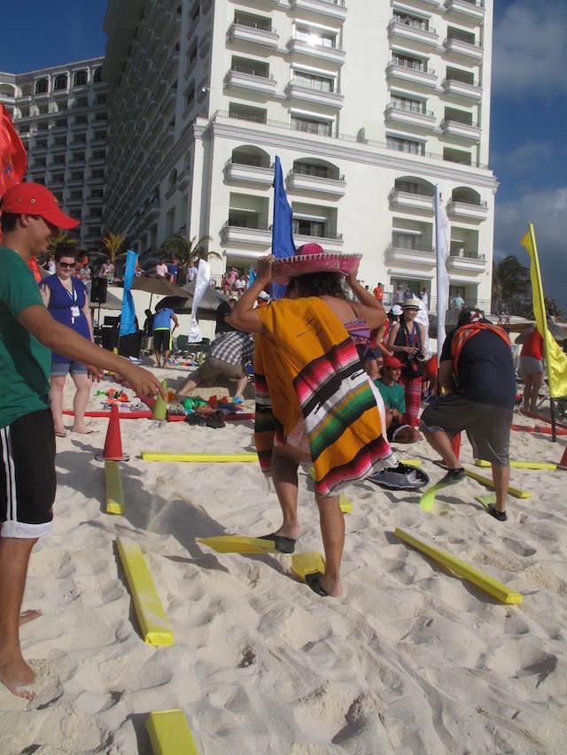 team building juegos activos playa México