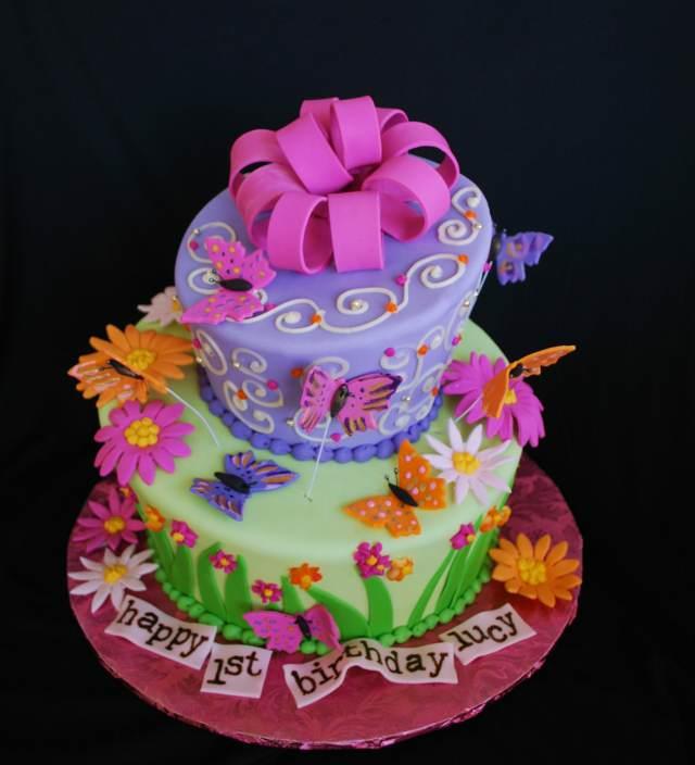 torta temática fiesta infantil mariposas