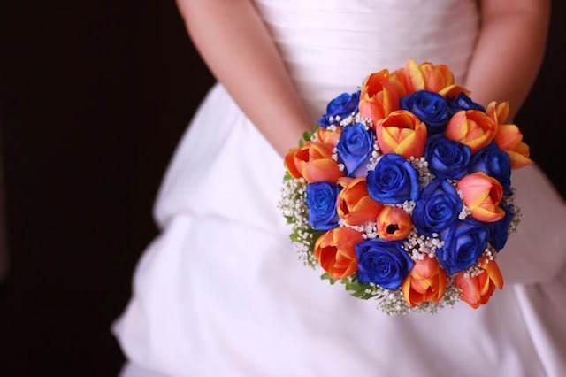 tulipanes color naranja rosas azules modernas belleza