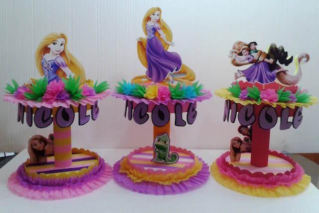 Rapunzel famosa película animada dulceros preciosos