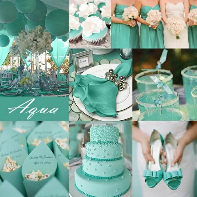 aguamarina decoración moderna boda primavera verano 2015