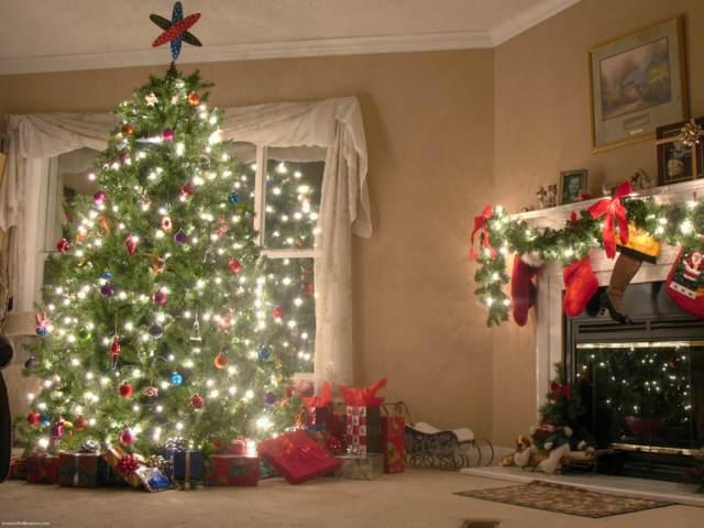 árbol navideño ideas originales decoración bolas luces regalos
