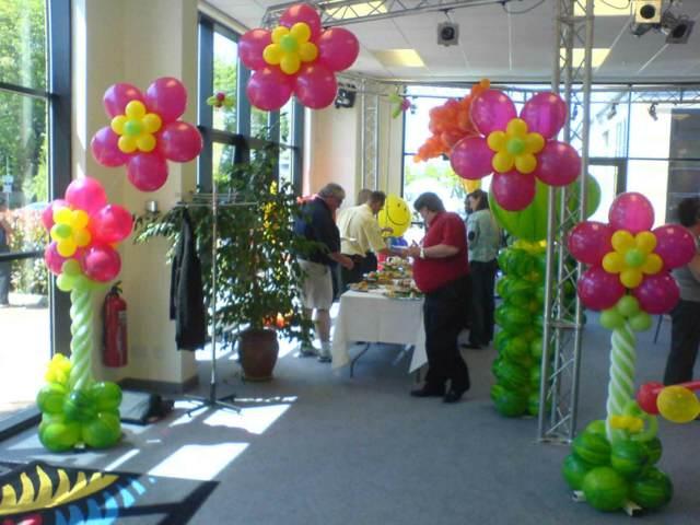 arreglos globos forma flores ideas fiesta