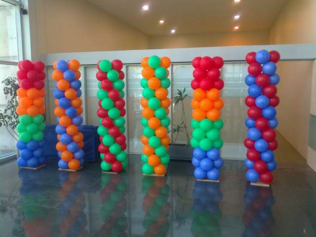 globos ideas decoración fiesta corporativa