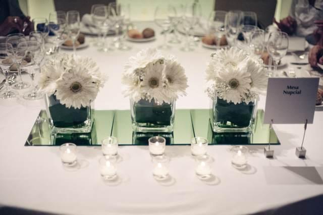boda arreglos mesa ideas originales flores
