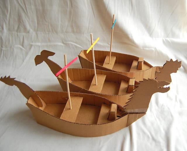 barcos hechos a mano dulceros para fiestas infantiles