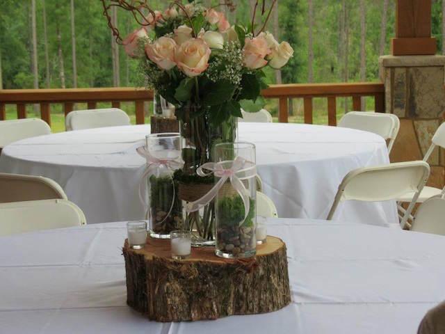 bautizo centros de mesa para baby shower elegante