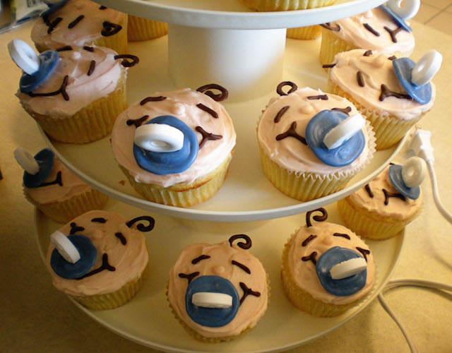 bebés sonrisas baby shower cupcakes dulces