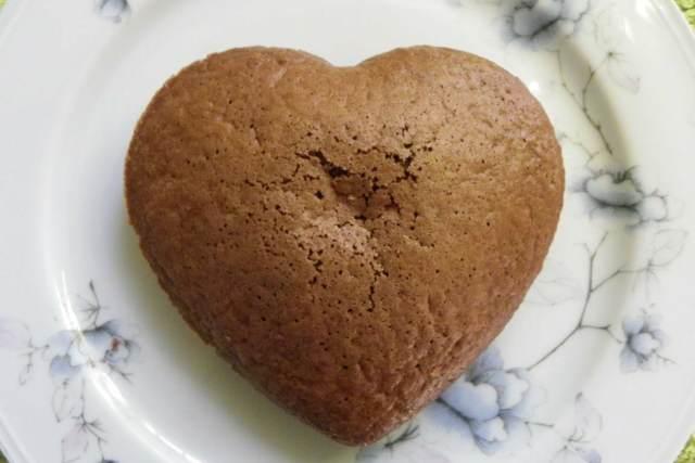 bizcocho original chocolate forma corazón fiesta