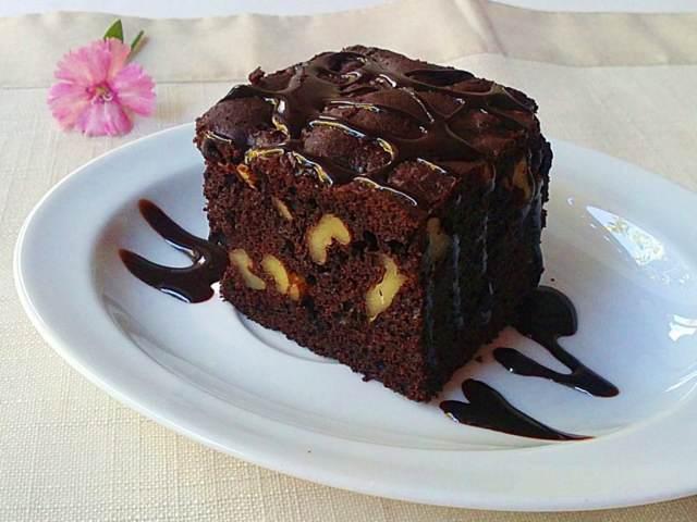 bizcocho de chocolate postre magnífico fiesta cumpleaños