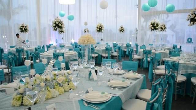 color azul boda ideas originales decoración maravillosa