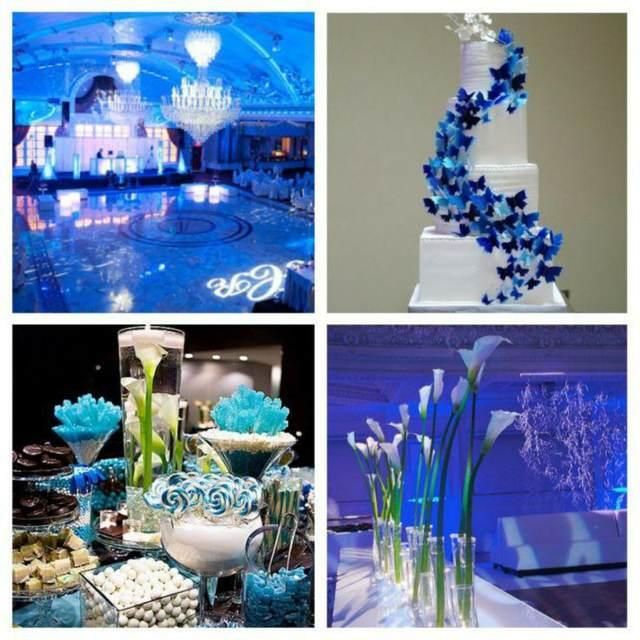boda color azul decoración ideas originales