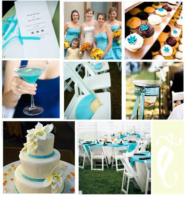 boda decoración color azul ideas originales