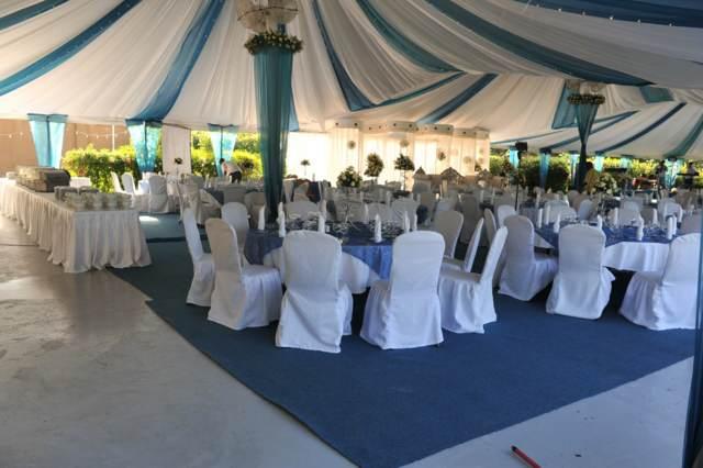 boda decoración interesante color azul tendencias modernas