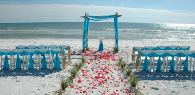 boda original playa decoración azul ideas maravillosas