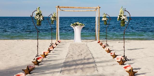 bodas en la playa decoración temática estrellas