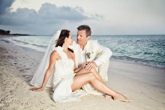 bodas en la playa fotografía romántica