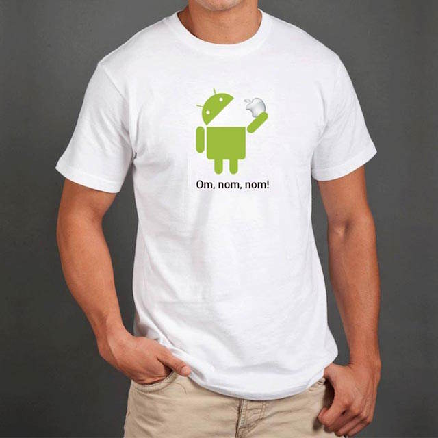 camiseta Android come Apple regalo diferente