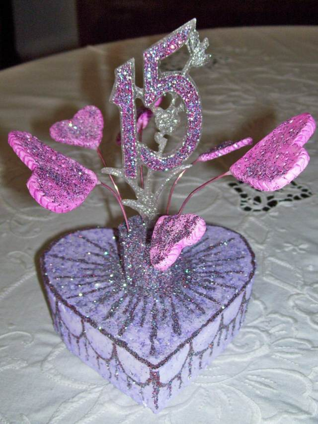 1000 images about 15 a os on pinterest - Centros de mesa para quinceaneras ...