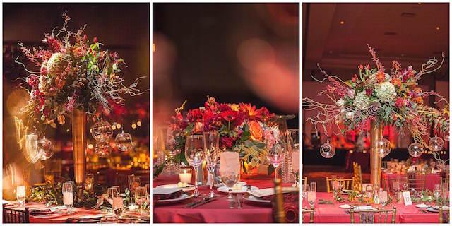 centros de mesa para boda color moderno