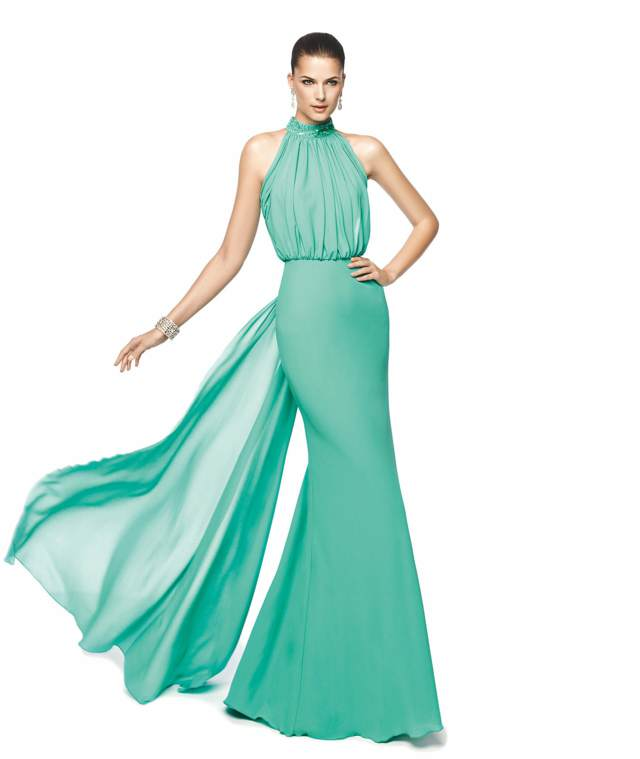color aguamarina vestido magnífico boda decoración tendecias 2015