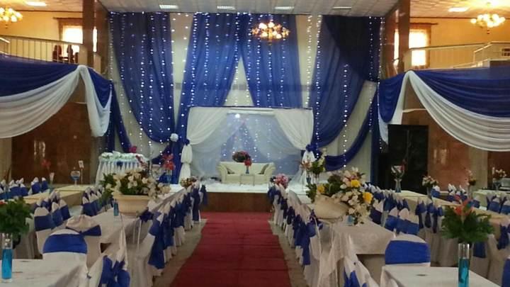 color azul decoración maravillosa boda preciosa