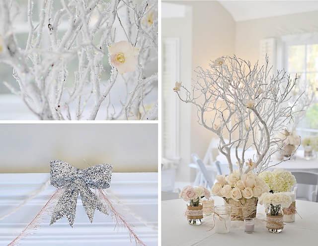 color blanco decoración estilo vintage cumpleaños invierno
