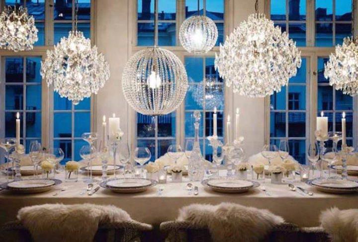 color blanco elegante decoración fiesta de invierno