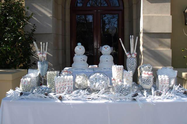color blanco decoración magnífica fiesta temática de invierno