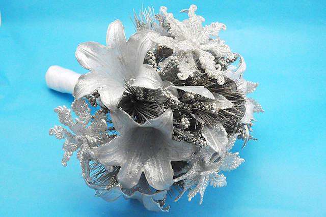 color plata ramo de flores maravilloso
